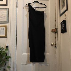 Weekday asymmetrical black tank dress
